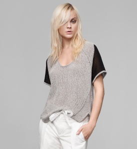 Helmut Lang TRANSPARENT MELANGE SWEATER TOP